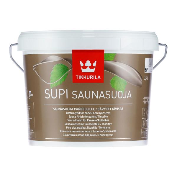 Пропитка для вагонки в бане Supi Saunasoja (Tikkurila) отличается от других антисептиков экологичностью