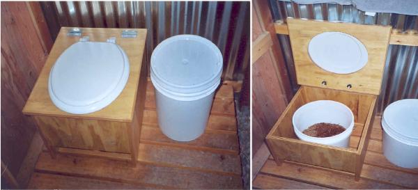 Простейший санузел можно оборудовать даже в небольшой комнатке