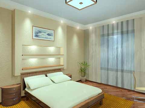 простой дизайн спальни