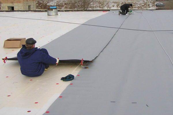 ПВХ пленки могут применяться для плоских крыш