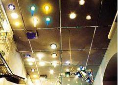 На фото планировка точечных светильников