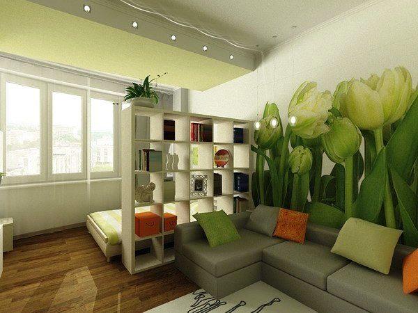 Разграничение позволяет отделить зону отдыха от гостиной