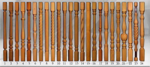 Разные формы балясин