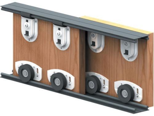 Роликовый механизм для раздвижных дверей.