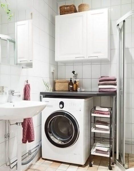 Розетку для стиральной машины, расположенной в санузле, небезопасно устанавливать тут же, лучше вывести её в соседнюю комнату