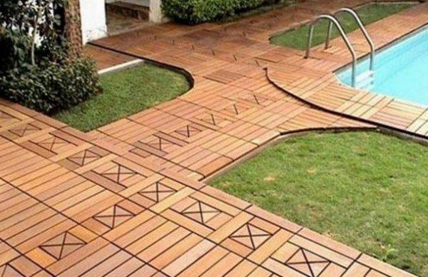 Садовый паркет заслуженно считается одним из самых красивых покрытий.