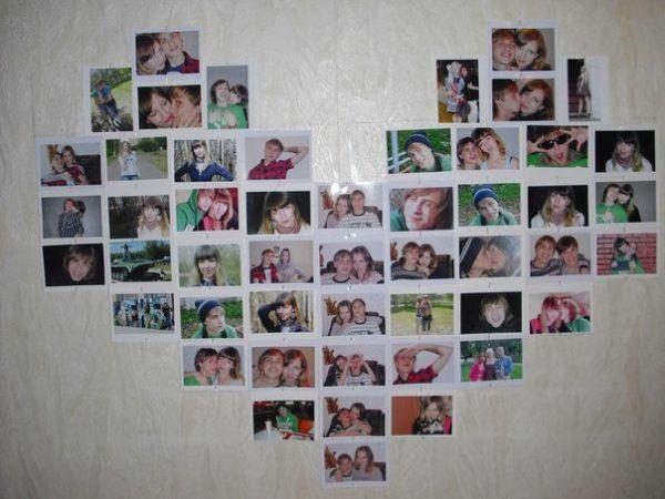 Семейные фото в качестве настенного декора.