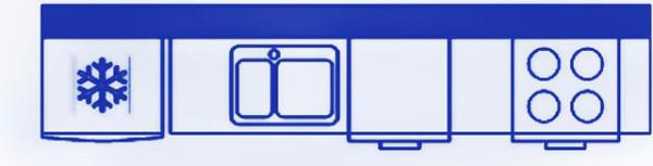 Схема однорядной конфигурации