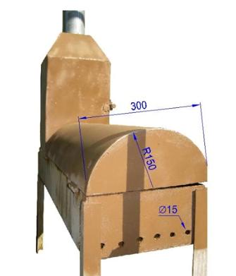 Ширина ящика и вентиляционные отверстия.