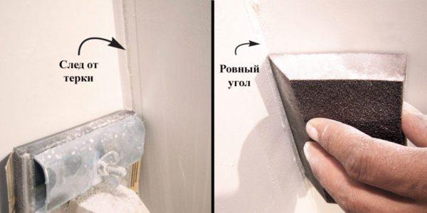 Шкурка помогает выравнивать дефекты стен.