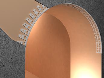 Штукатурный уголок предназначен для выравнивания криволинейных углов