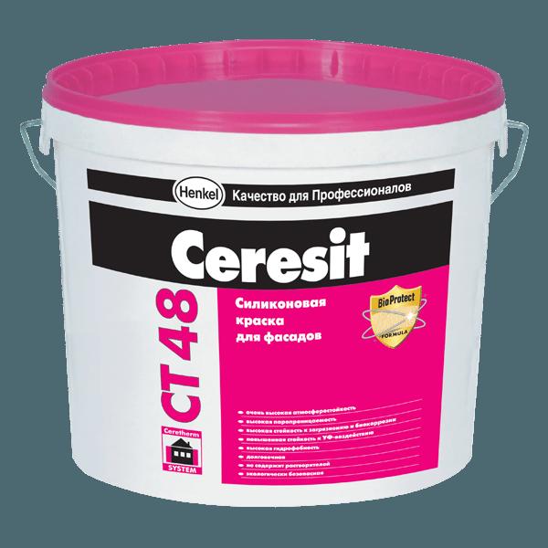 Силиконовую краску Ceresit CT 48 можно использовать не только для окраски фасадов, но и внутренних работ