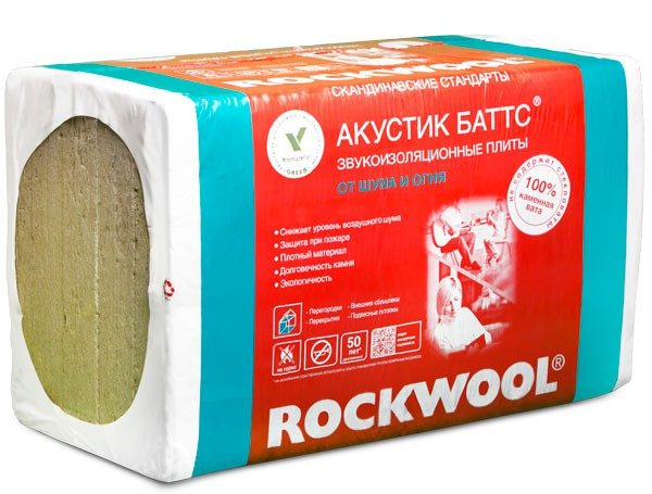 Слово «акустик» на русском или английском языке указывает на то, что минеральная вата предназначена для шумоизоляции