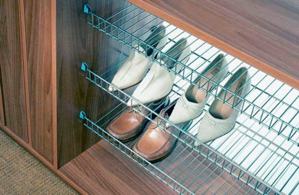 Сотовая полочка для обуви.