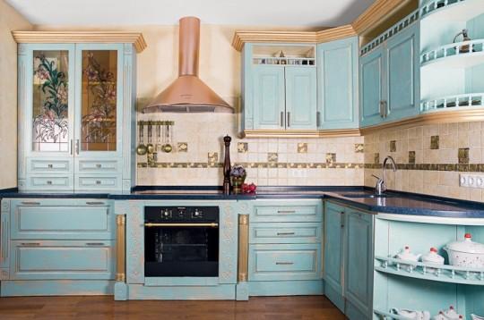 Современная кухня в стиле прованс