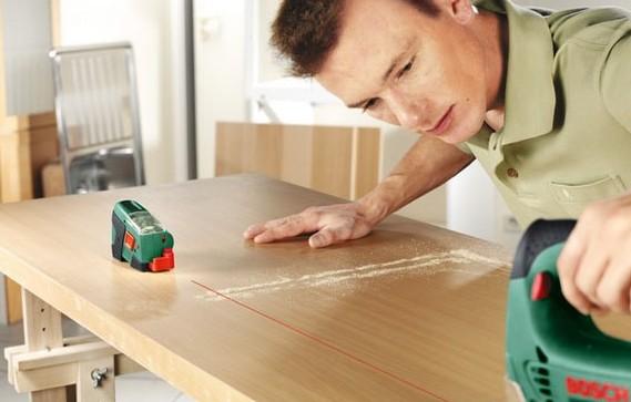 Создание линии разметки для резки древесностружечной плиты электрическим лобзиком