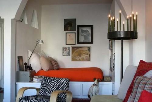 Спальня в нише однокомнатной квартиры