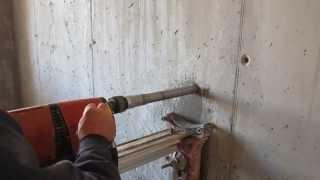 Специалисты используют оборудование с упором для облегчения работы