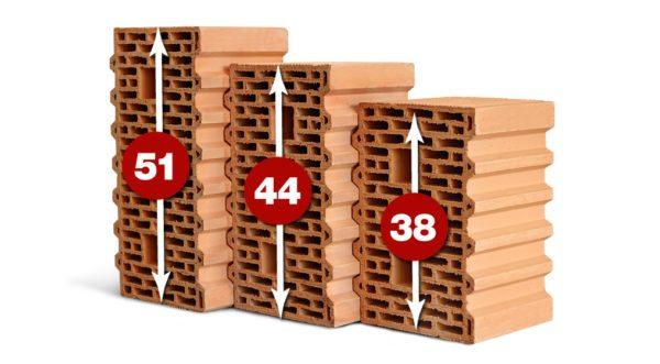 Сравнительные размеры разных блоков: чем больше габариты, тем проще класть изделия