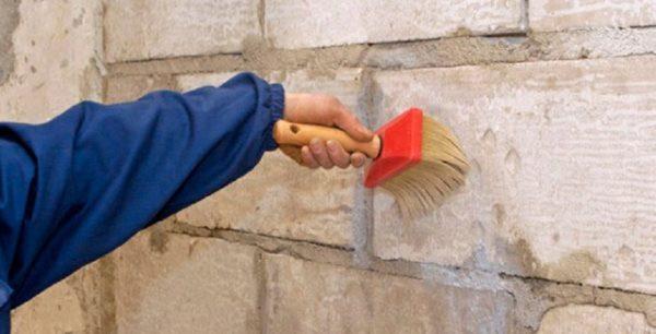 СТ 17 можно наносит на ячеистый бетон и другие пористые материалы