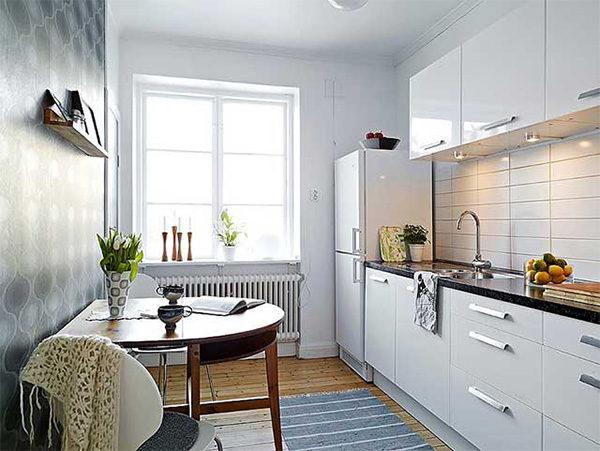 Стандартная кухня в обычной квартире