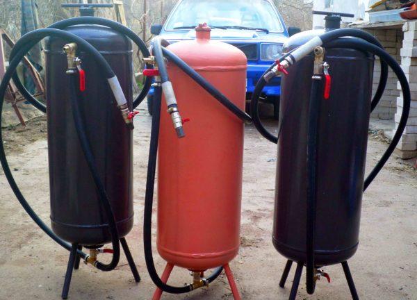 Старый газовый баллон обретет новую жизнь в качестве пескоструйки