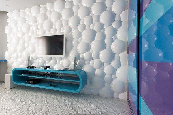 Стена 3d позволяет разнообразить интерьер и сделать дизайн помещения по истине уникальным