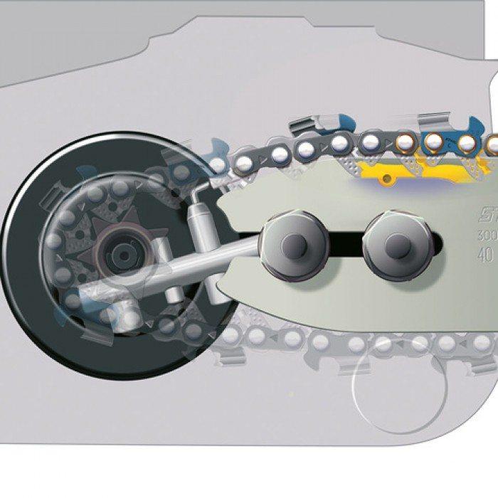 Stihl-Ematic — эффективная смазочная система для цепи повышает производительность инструмента.