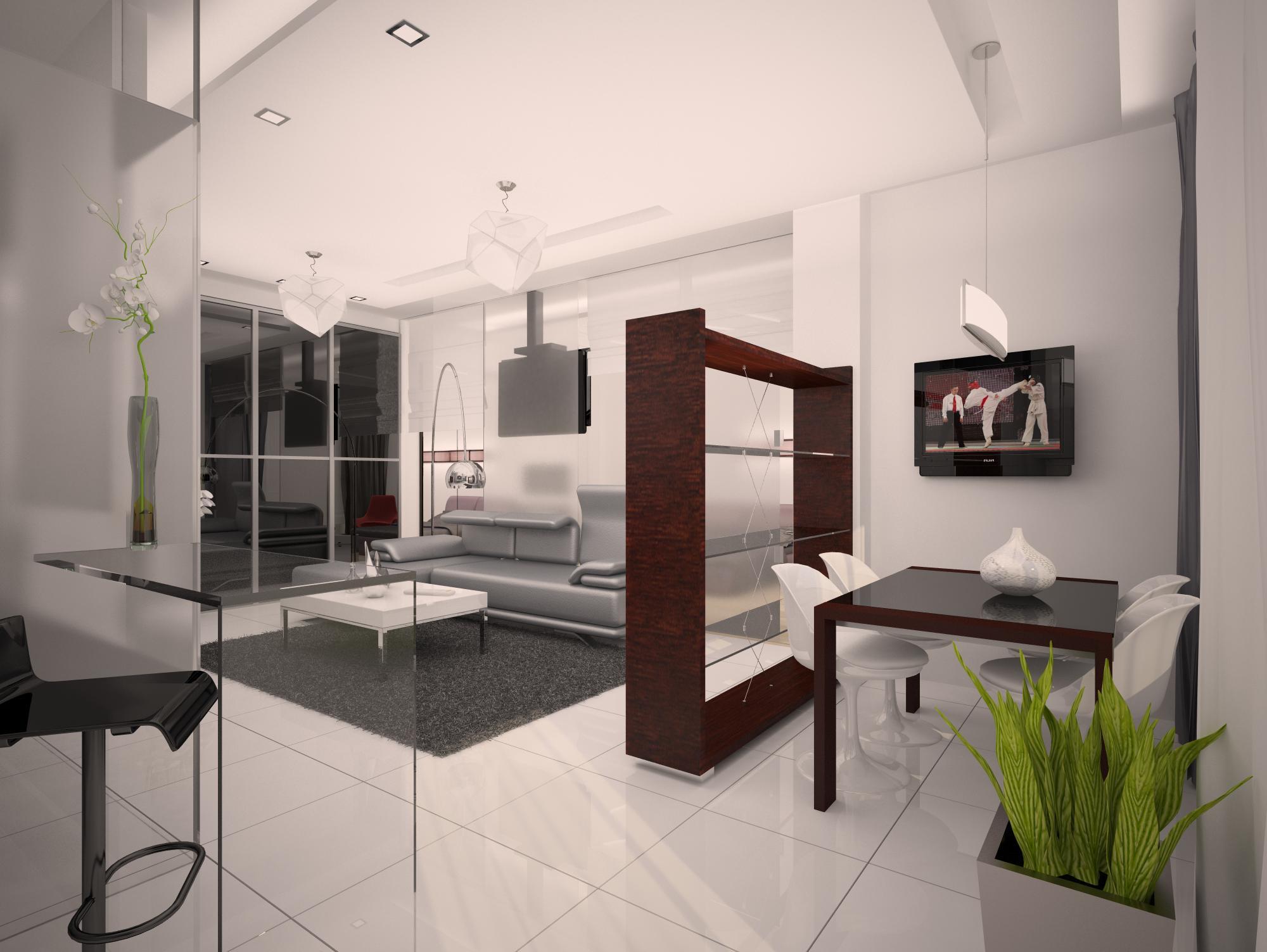 стильный интерьер квартиры-студии