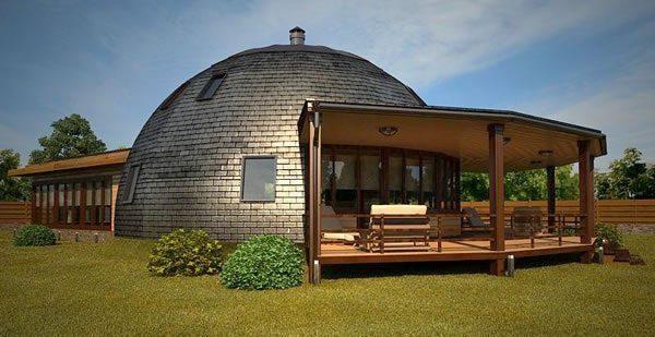 Стратодезический купольный дом способен выдерживать значительные вертикальные нагрузки благодаря особенностям своей конструкции