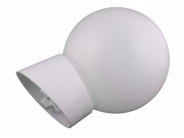 Светильник полностью изготовлен из пластика. Максимальная мощность лампы — 60 Вт.