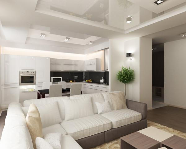 Такое просторное помещение позволяет реализовать любой дизайнерский замысел