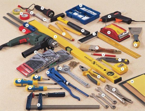 Такой набор инструмента необходим, если все домашние работы выполняются самостоятельно.