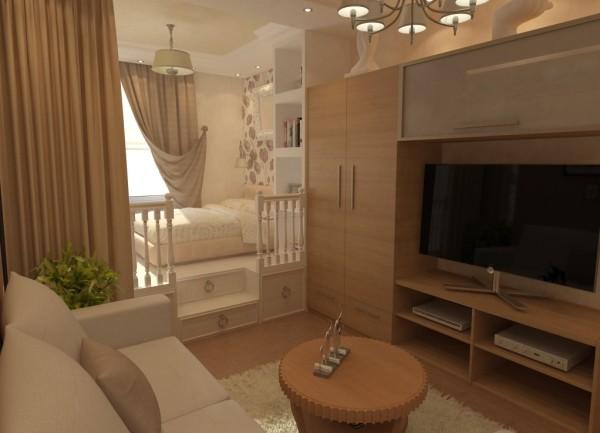Телевизор с гостевым диваном не должны соседствовать со «спальней»