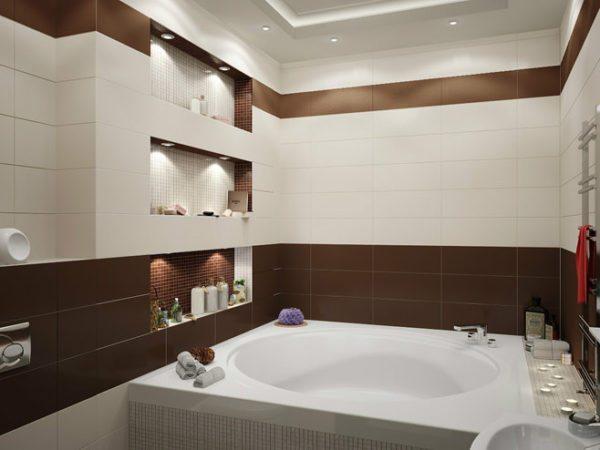 Точечное освещение позволит равномерно осветить ванную комнату