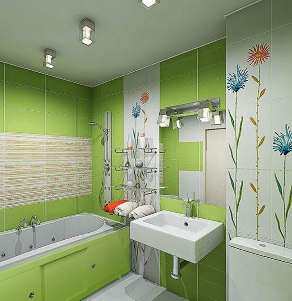 Удачно оформленная ванна всегда кажется достаточно просторной