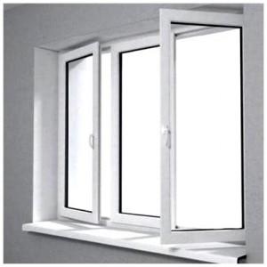 Установленное окно ПВХ
