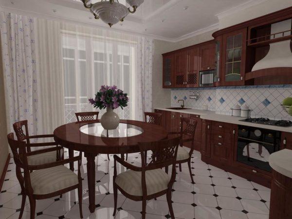 В любом интерьере должна быть своя изюминка, к примеру, оригинальный деревянный стол с прозрачной врезкой по центру.