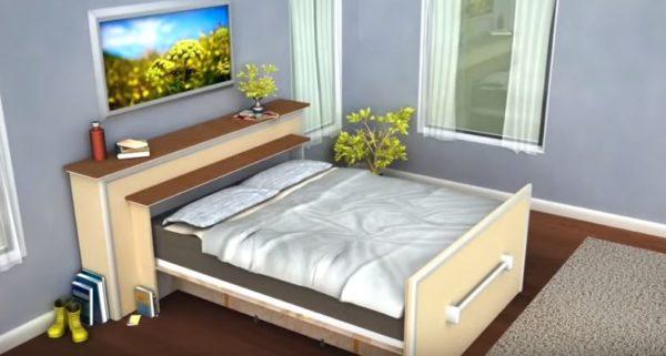 В разобранном виде это спальное место очень удобное.