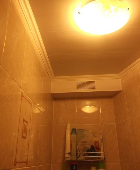 В туалете из электроприборов в большинстве случаев можно встретить один лишь светильник
