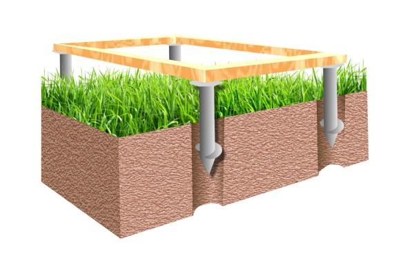 Вертикальные грунтовые опоры позволяют вести строительство даже на сложных грунтах