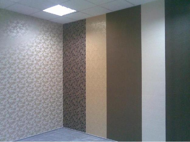 сочетание отделки стен