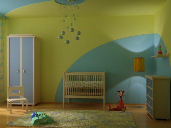 Воднодисперсионные краски можно использовать даже в детских комнатах и детсадах