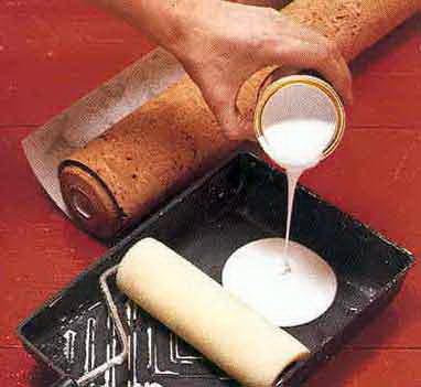 Готовый состав для наклейки полотен