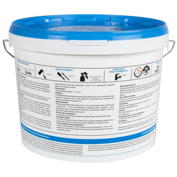Время сушки слоя краски указывается на упаковке и при комнатной температуре составляет 1-2 часа.