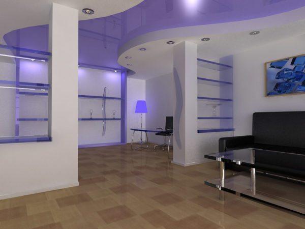 Выбор типа натяжного потолка влияет на дизайн всего помещения