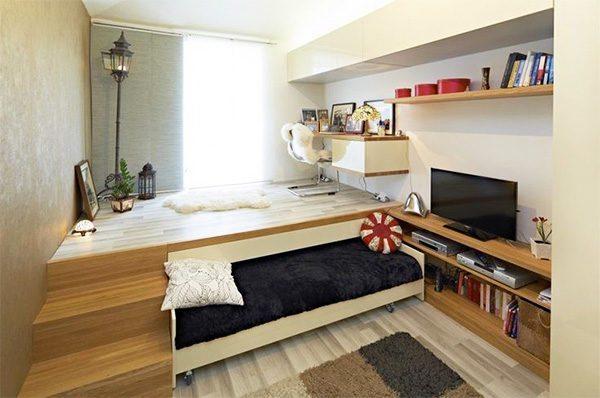 Высокий подиум годится лишь для помещения с высокими потолками