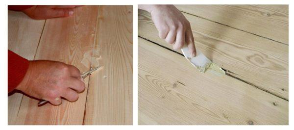 Заполнение шпаклевкой всех щелей нужно для получения идеально ровной поврехности