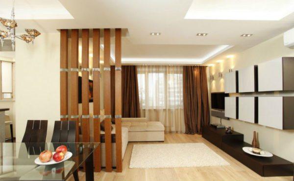 Зонирование позволяет гармонично оформить интерьер помещения